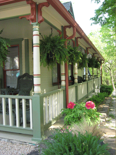 Porch, downtown Eureka Springs